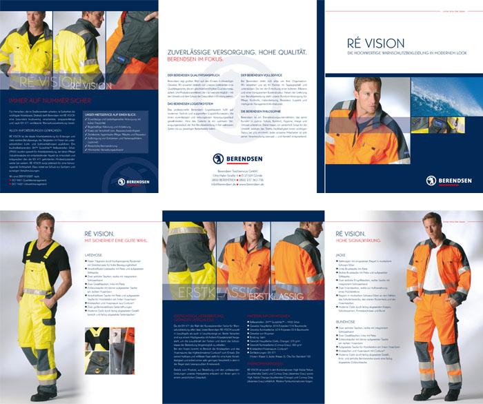 Broschüre, Folder Berendsen Textilservice GmbH