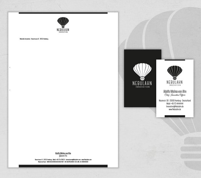 Existenzgründung Nebulahn Visitenkarten und Briefbogen