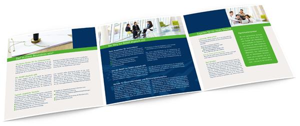 Folder, Faltblatt, Flyer Steuerberatung