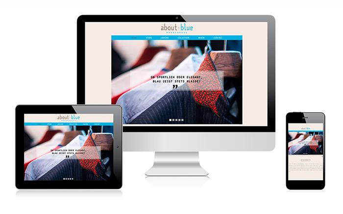 Webdesign Singlepage about:blue