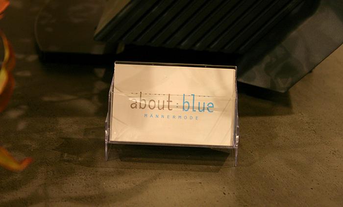 about-blue visitenkarten