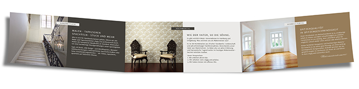 Folder, Flyer Malermeister Gudian