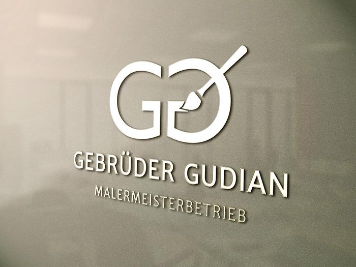 Logodesign Malermeister Gudian