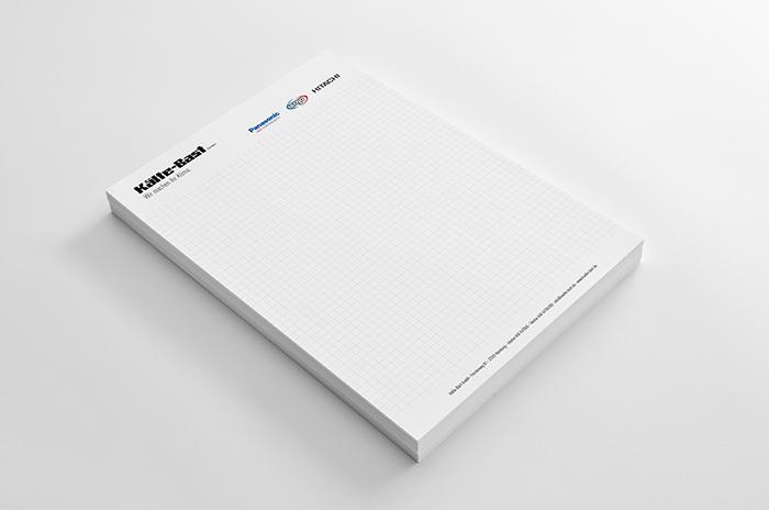 Schreibblock Grafik Design