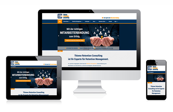 responsive webdesign thieme retention consulting