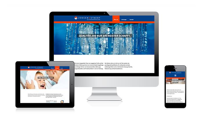 Responsive Webdesign Jensen & Staedt Gas- und Wasserinstallation