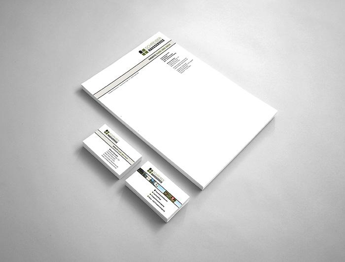 Visitenkarten, Briefbogen Schreiber Hausservice