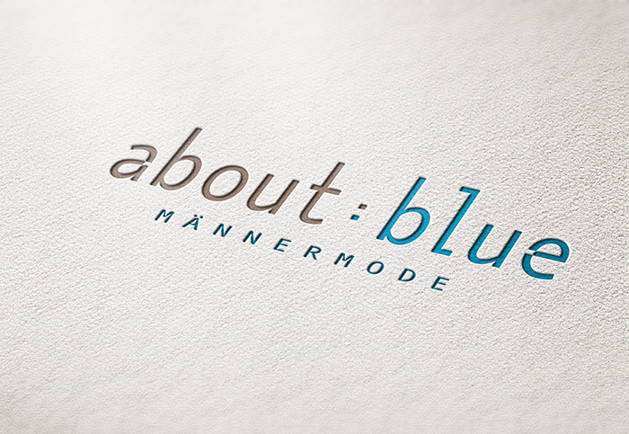 about blue, logodesign, grafik design