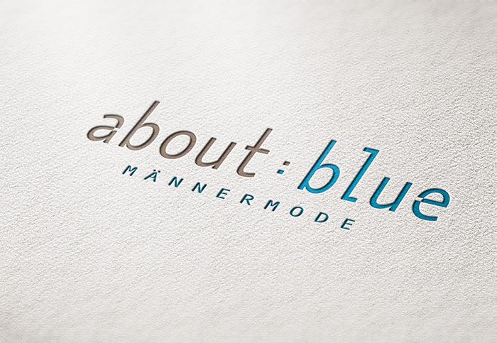 about blue, logodesign, grafik design