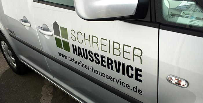 Fahrzeugbeschriftung Schreiber Hausservice