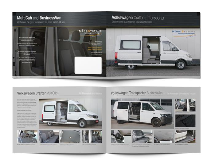Printdesign: Prospekt Volkswagen Crafter und Transporter