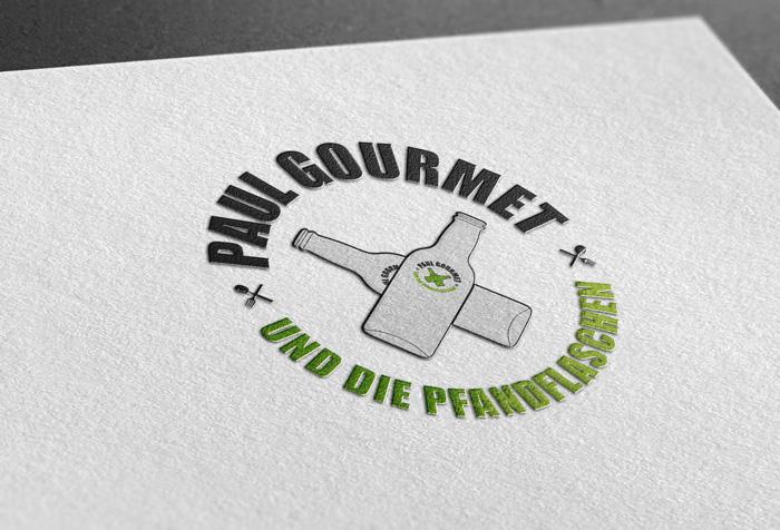 Logo Paul Gourmet und die Pfandflaschen, Grafik Design