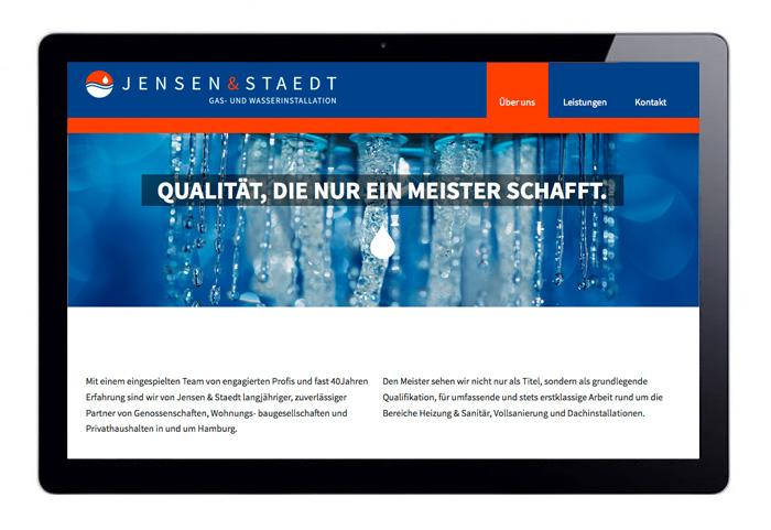 Web Design responsive Jensen & Staedt Über uns