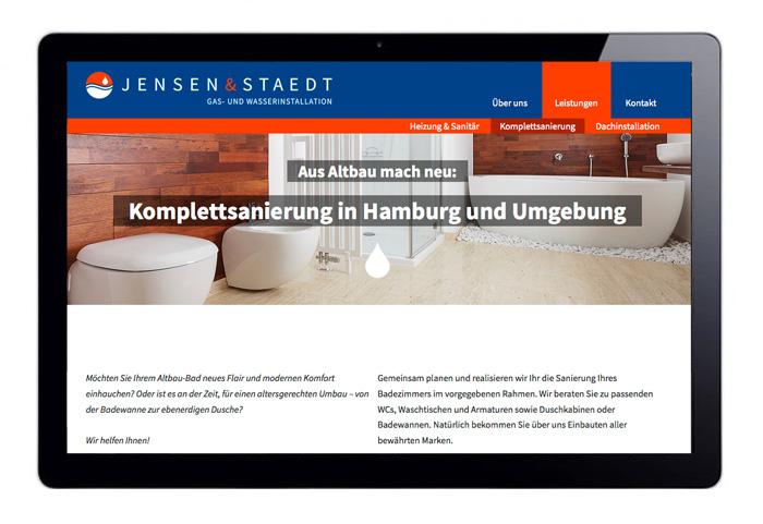 Webdesign JensenStaedt Badsanierung