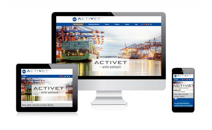 Webdesign responsiv Activet GmbH