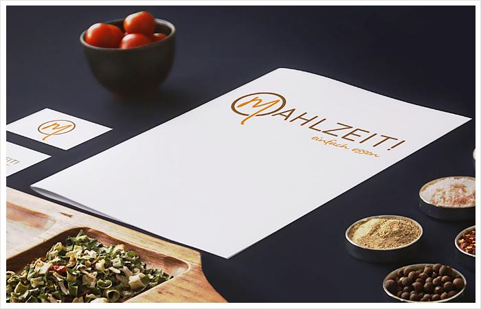 logo grafik design mahlzeit - einfach essen
