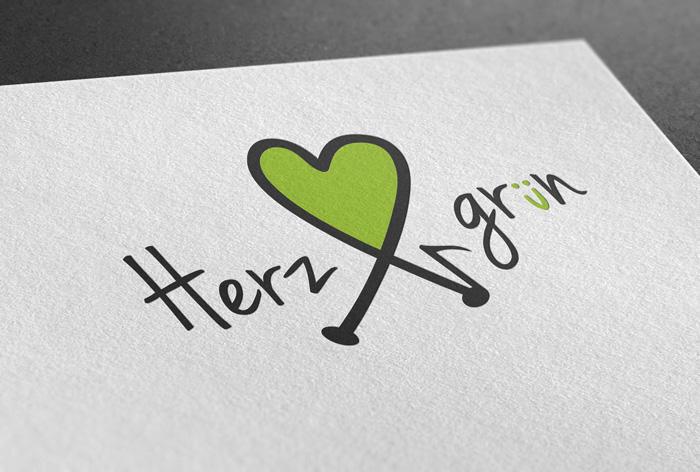 Logodesign Herzgruen