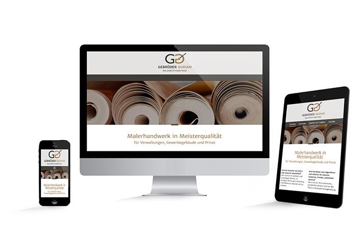 Webdesign Responsive Malermeister Gudian