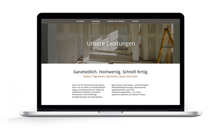 One Page Webdesign Malermeister Gudian