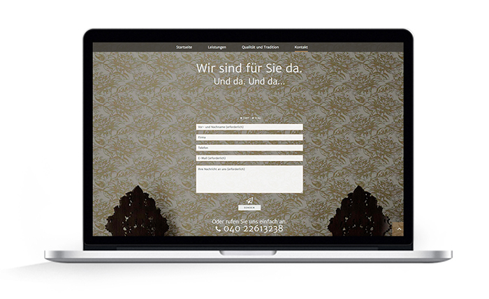 One Page Webdesign Malermeister Gudian