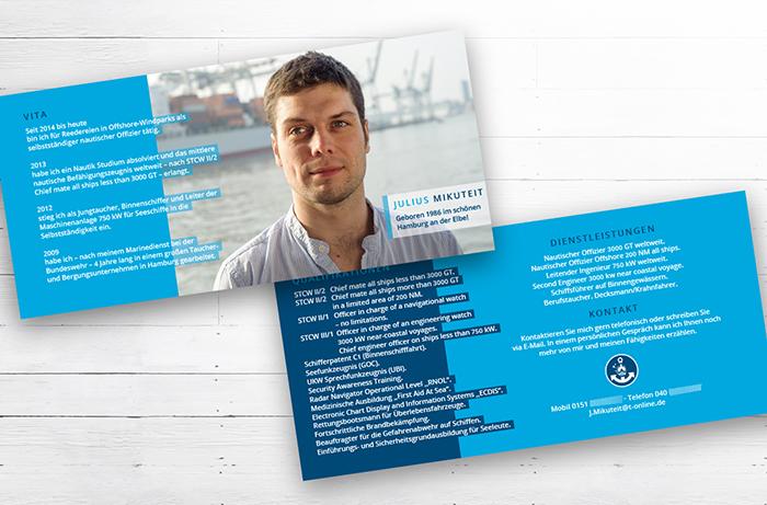 Flyer, Faltblatt Berufstaucher