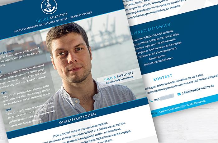 Corporate Design, E-Mail_Flyer Berufstaucher