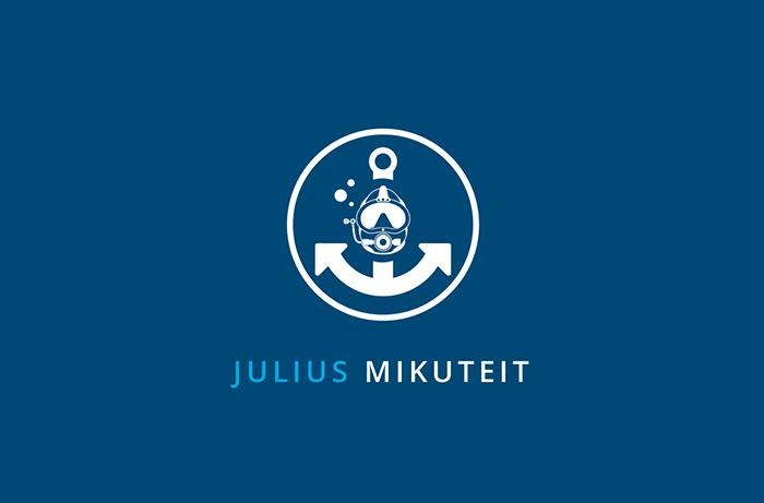 Logodesign Berufstaucher, Nautischer Offizier