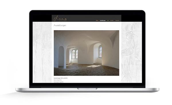 Webdesign, Ausstellungen Malerin Natascha Maas