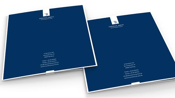 Broschüre, Folder 6-seitig, Steuerberatung Thomas Breit