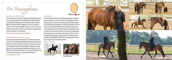 Gestaltung und Layout des Booklet Pro Sanitate Equi Nicole Weinauge Seite 6-7