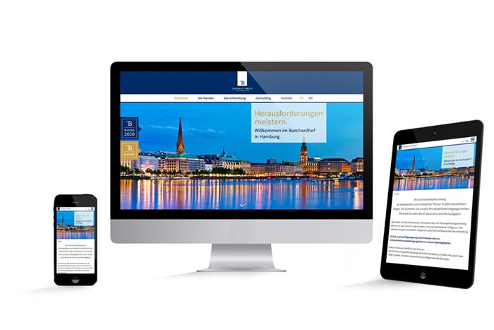 Webdesign responsive Thomas Breit Steuerberatung