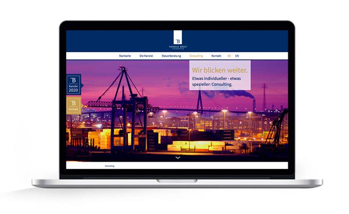 Webdesign responsive Thomas Breit Steuerberatung, Consulting