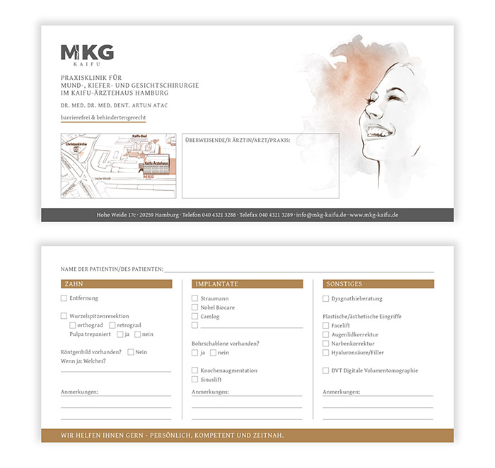 Corporate Design, Überweiserflyer MKG Kaifu