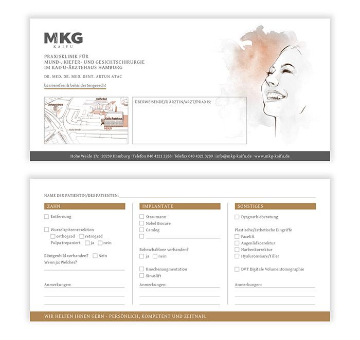 Flyer Design, Überweiserflyer MKG Kaifu
