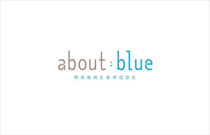 Logodesign about : blue Männermode Eppendorf