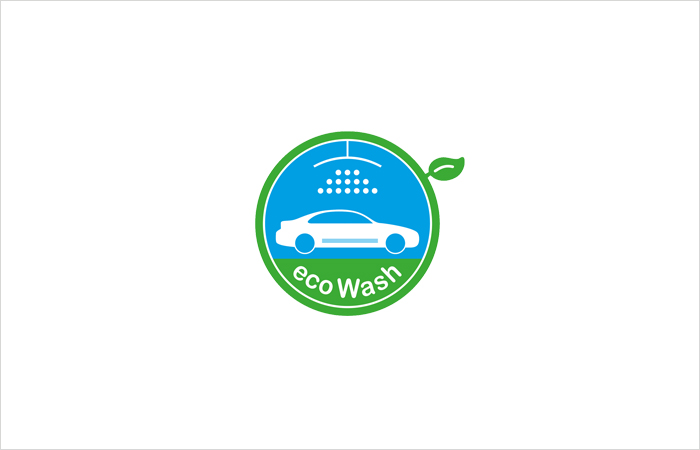 Logodesign eco Wash grafik design