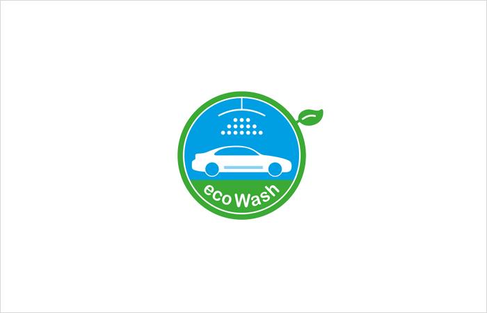 Logodesign eco Wash grafik design