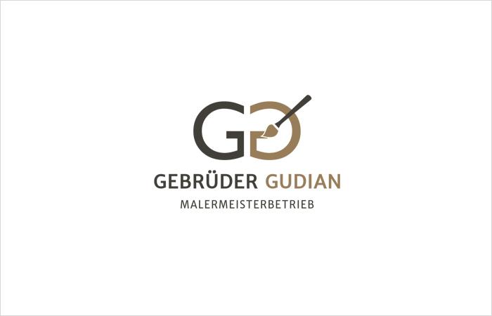 Logodesign, Grafik Design Malermeister Gebrüder Gudian