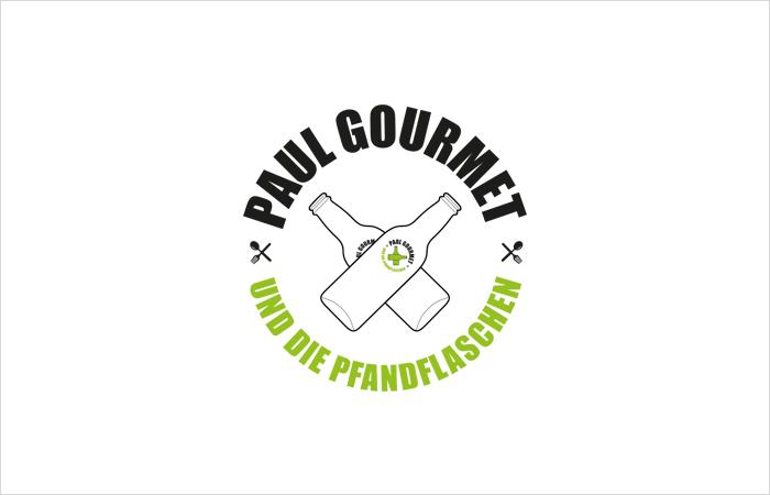 Logodesign Paul Gourmet und die Pfandflaschen