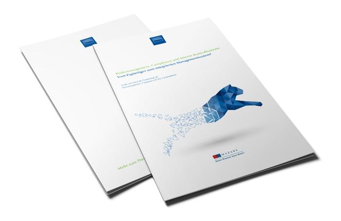 Broschüre Funk Gruppe. Studie: Risikomanagement, Compliance und Interne Kontrollsysteme. Satz und Layout.