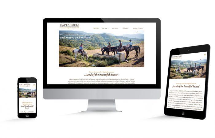 Webdesign Hamburg Cappadocia Reittrails, Startseite