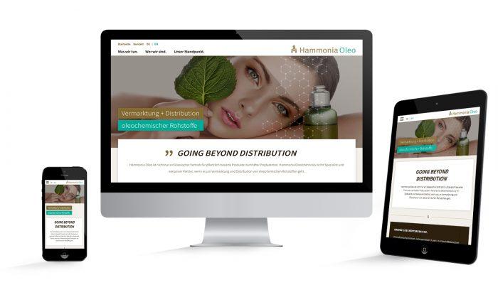 Responsive Webdesign Hamburg für Hammonia Oleo