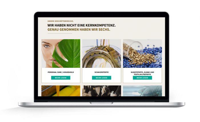 Website Geschäftsbereiche Hammonia Oleo