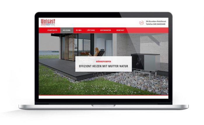 Webdesign Hamburg für Wolgast Waermepumpe