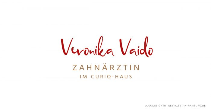 Logodesign Hamburg Zahnarzt Veronika Vaido im Curio-Haus