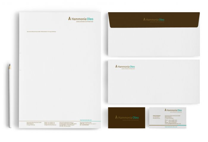 Logodesign Corporate Design Visitenkarten Briefbogen Hammonia Oleo