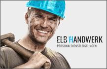 Logodesign, Webdesign, CD<br>Elb Handwerk GmbH</br>