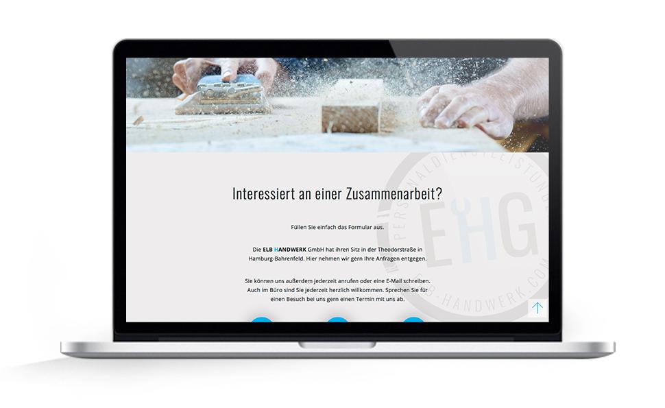 Webdesign EHG Elb Handwerk, Zusammenarbeit