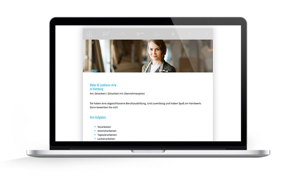 Webdesign EHG Elb Handwerk, Jobs