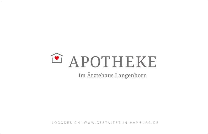 Logodesign Hamburg Apotheke im Ärztehaus Langenhorn, Sonja Bast gestaltet [in hamburg]